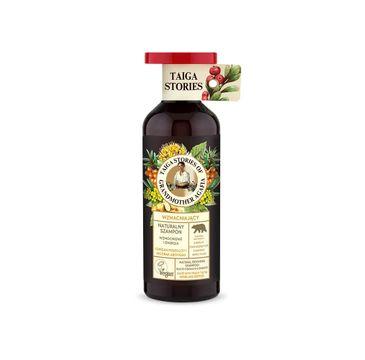 Bania Agafii – Tajga Stories naturalny szampon wzmacniający do włosów z chrzanem pospolitym i modrakiem abisyńskim (500 ml)