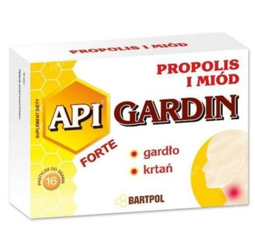 Bartpol Api Gardin Forte Propolis i Miód suplement diety 16 pastylek