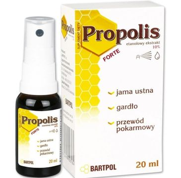 Bartpol Propolis Forte etanolowy ekstrakt 10% suplement diety 20ml