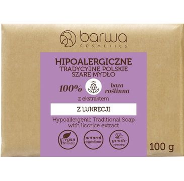 Barwa – Hipoalergiczne mydło szare z ekstraktem z lukrecji (100 g)