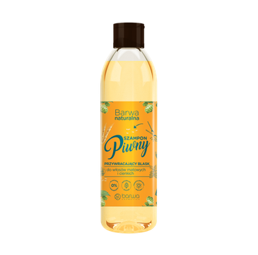 BARWA Naturalna Szampon do włosów Piwny przywracający blask - włosy cienkie i matowe (300 ml)
