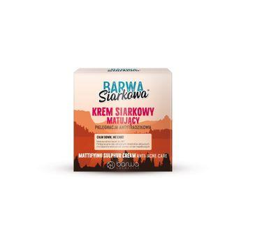 BARWA Siarkowa Krem siarkowy matujący - cera tłusta  50ml