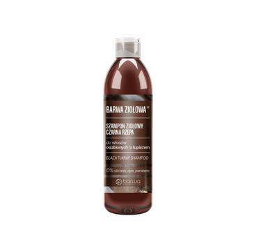 BARWA Ziołowa Szampon do włosów Czarna Rzepa - włosy osłabione i z łupieżem (250 ml)