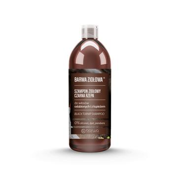BARWA Ziołowa Szampon do włosów Czarna Rzepa - włosy osłabione i z łupieżem (480 ml)