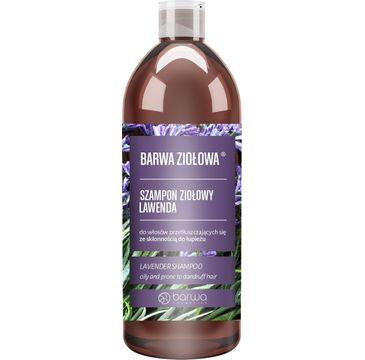 BARWA Ziołowa Szampon do włosów Lawenda - włosy przetłuszczające się i z łupieżem (480 ml)