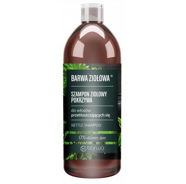 Barwa Ziołowa szampon ziołowy do włosów przetłuszczających się Pokrzywa (480 ml)