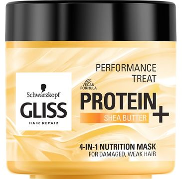 Gliss Kur– Performance Treat 4-in-1 Nutrition Mask maska odżywcza do włosów Protein + Shea Butter (400 ml)