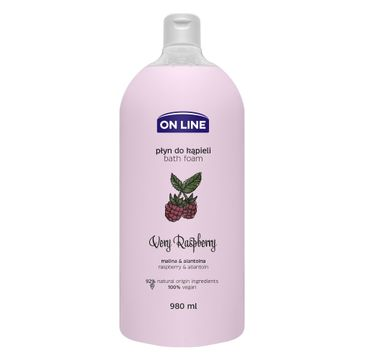 On Line – Płyn do kąpieli Very Raspberry (980 ml)