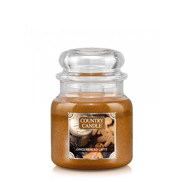 Country Candle – Średnia świeca zapachowa z dwoma knotami Gingerbread Latte (453 g)