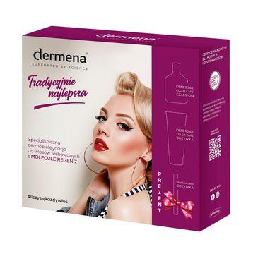Dermena – Hair Care Zestaw prezentowy Color Care szampon 200ml+odżywka 200ml+odżywka do rzęs 11ml (1 szt.)
