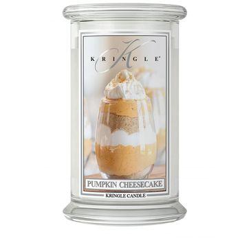 Kringle Candle – Duża świeca zapachowa z dwoma knotami Pumpkin Cheesecake (623 g)