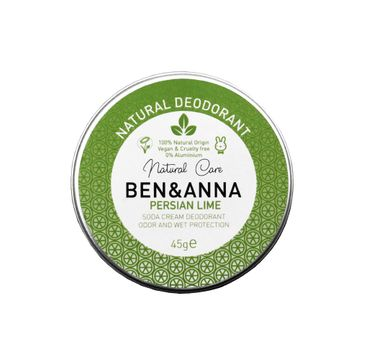 Ben&Anna Natural Deodorant – naturalny dezodorant w kremie w aluminiowej puszce Persian Lime (45 g)