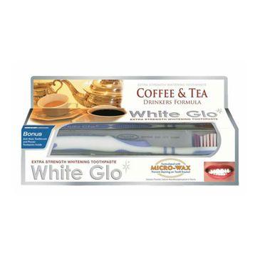 White Glo – Coffee & Tea Drinkers Formula wybielająca pasta do zębów dla osób regularnie pijących kawę i herbatę 100ml + szczoteczka (1 szt.)