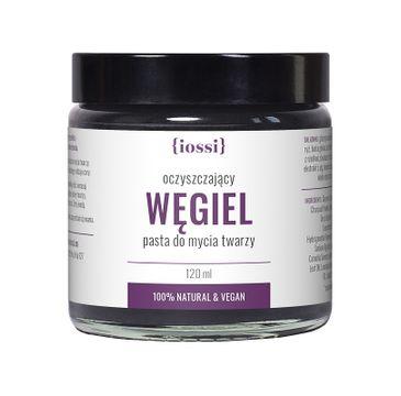 Iossi – Węgiel oczyszczająca pasta do mycia twarzy z węglem aktywnym algami i zieloną herbatą (120 ml)
