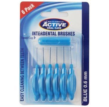 Active Oral Care – Interdental Brushes Blue czyściki do przestrzeni międzyzębowych 0,60mm (6 szt.)
