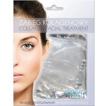 Beauty Face Collagen Facial Treatment odmładzająco rozświetlający zabieg kolagenowy z diamentami i drobinkami srebra