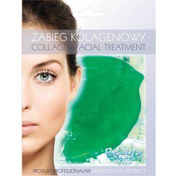 Beauty Face Collagen Facial Treatment odżywczy zabieg kolagenowy z ekstraktem z ogórka i algami morskimi