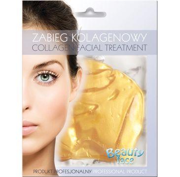 Beauty Face Collagen Facial Treatment przeciwzmarszczkowy zabieg kolagenowy z 24K złotem i kwasem hialuronowym