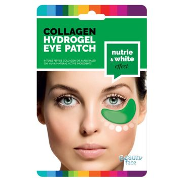 Beauty Face Collagen Hydrogel Eye Patch odżywcze płatki hydrożelowe pod oczy z ekstraktem z ogórka i algami
