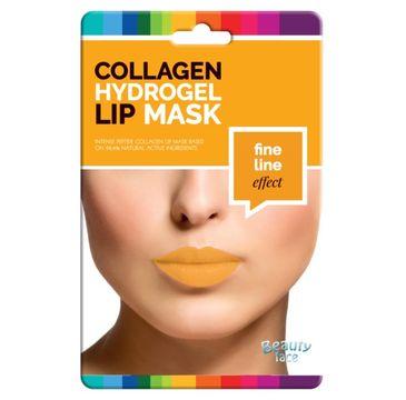 Beauty Face Collagen Hydrogel Lip Mask przeciwzmarszczkowa kolagenowa maska na usta ze złotem