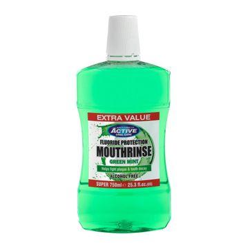 Beauty Formulas Active Alcohol Free Mounthwash płyn do płukania jamy ustnej bez alkoholu z zieloną miętą (750 ml)