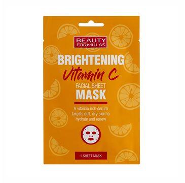 Beauty Formulas Brightening Vitamin C rozjaśniająca maska do twarzy z witaminą C (1 szt.)
