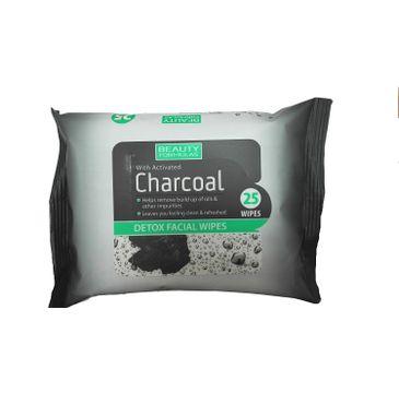 Beauty Formulas Charcoal chusteczki oczyszczające z aktywnym węglem 1 op. - 25 szt.