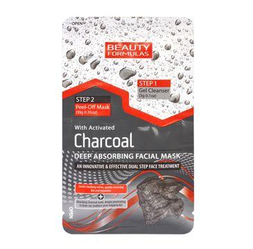 Beauty Formulas Charcoal maseczka 2-fazowa do każdego typu cery głęboko oczyszczająca z aktywnym węglem 13 g