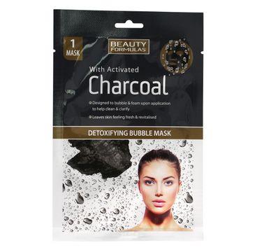 Beauty Formulas Charcoal maseczka detoksykująca bąbelkowa z aktywnym węglem 1 szt.