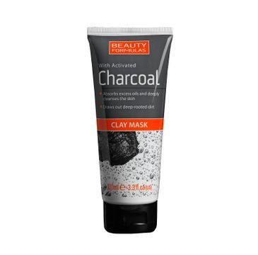 Beauty Formulas Charcoal maseczka do twarzy z glinką głęboko oczyszczająca z aktywnym węglem 100 ml
