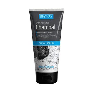 Beauty Formulas Charcoal Peeling do twarzy głęboko oczyszczający z aktywnym węglem 150 ml