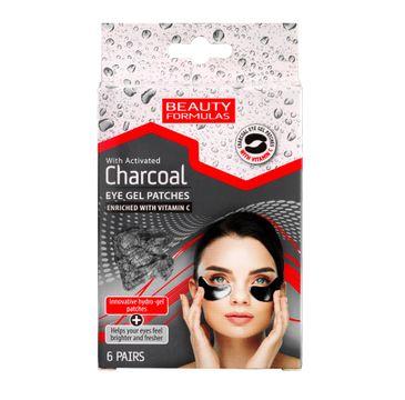 Beauty Formulas Charcoal żelowe płatki pod oczy z aktywnym węglem 1 op. - 6 szt.