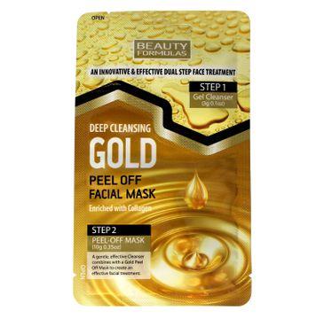Beauty Formulas Gold Złota maseczka oczyszczająca na twarz peel-off 1 szt.