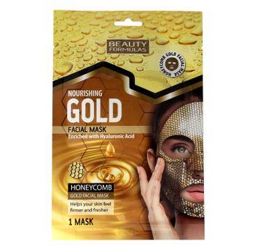 Beauty Formulas Gold Złota maseczka odżywcza na twarz 1 szt.