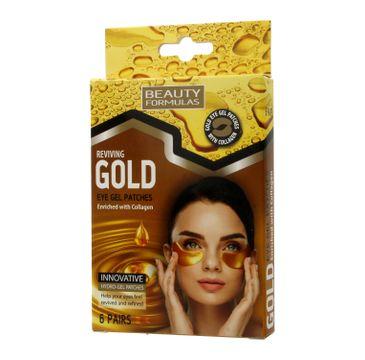 Beauty Formulas Gold Złote płatki pod oczy 1 op. - 6 par