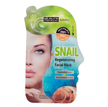 Beauty Formulas maska do każdego rodzaju skóry regenerująca ze śluzem ślimaka 2 g +1 maska