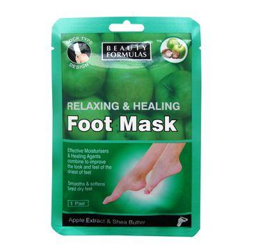 Beauty Formulas maska na stopy relaksująco-odżywcza 1 para 16 ml