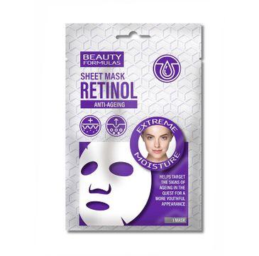 Beauty Formulas Retinol Anti-Ageing Sheet Mask nawilżająca maska w płachcie do twarzy (1 szt.)