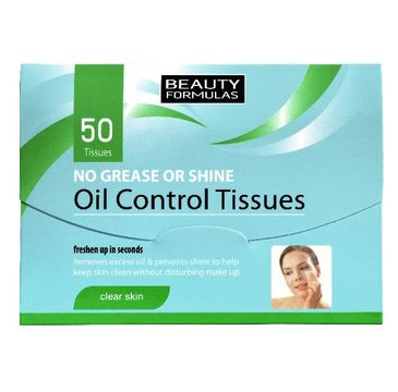 Beauty Formulas Skin Care bibułki matujące 50 szt. 1 op.
