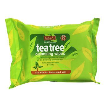 Beauty Formulas Tea Tree Chusteczki oczyszczające od twarzy 1 op - 30 szt