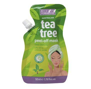 Beauty  Formulas Tea Tree maseczka peel-off do każdego rodzaju cery oczyszczająca 50 ml