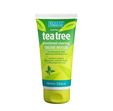 Beauty Formulas Tea Tree Peeling oczyszczający do twarzy 150 ml