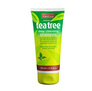 Beauty Formulas Tea Tree szampon do włosów przetłuszczających się oczyszczający 200 ml
