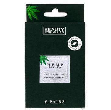 Beauty Formulas – żelowe płatki pod oczy z olejkiem konopnym (6 par)
