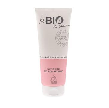 BeBio Naturalny żel pod prysznic Chia i Kwiat Japońskiej Wiśni (200 ml)