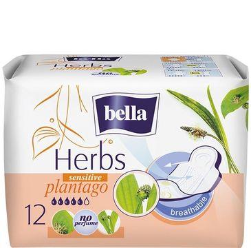 Bella Herbs Plantago Podpaski sensitive z Babką Lancetowatą  (1op.- 12 szt.)