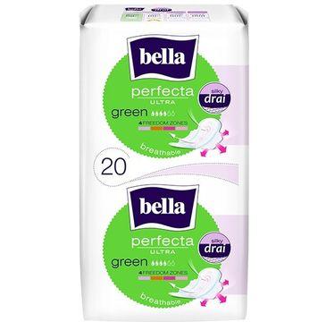 BELLA Perfecta Green Podpaski ultra cienkie silky dry  (1op. - 20 szt.)