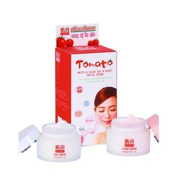 Belov Kihaku Tomato White&Clear Day & Night Facial Cream zestaw krem na dzień SPF30 (15 g) + krem na noc (15 g)