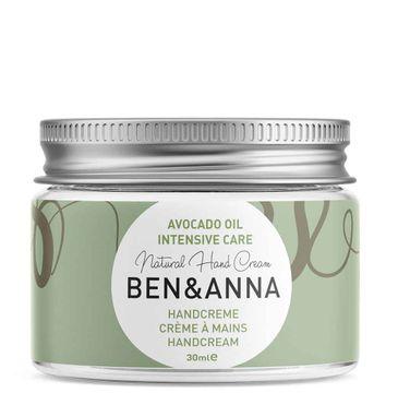 Ben&Anna Natural Hand Cream naturalny krem do rąk z olejem z awokado Intensive Care (30 ml)