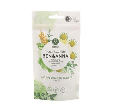 Ben&Anna – Natural Shampoo Tablets naturalny szampon tonizujący w tabletkach Tonic (120 g)